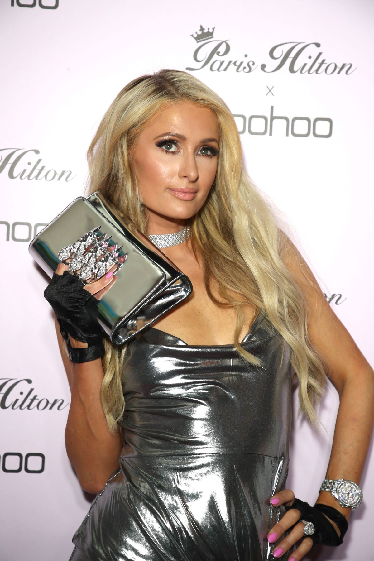 3b922443f4ae PARIS HILTON at Boohoo x Paris Hilton Launch Party in Los Angeles 06/20/2018