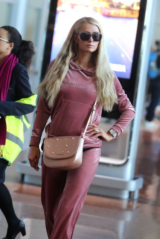 PARIS HILTON at Charles De Gaulle Airport in Paris 06/26/2018