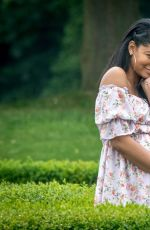 Pregnant CHANEL  IMAN and NICKAYLA RIVERA at a Country Estate near Windsor 05/30/2018