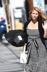 Pregnant CLAIRE DANES Arrives at Jimmy Kimmel Live in Los Angeles 05/31/2018
