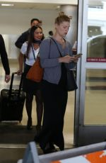 Pregnant CLAIRE DANES at LAX Airport in Los Angeles 06/05/2018