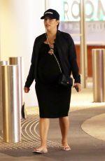 Pregnant EVA LONGORIA Arrives at Macy