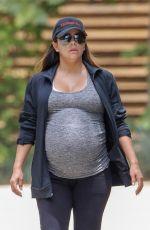 Pregnant EVA LONGORIA at a Park in Beverly Hills 06/16/2018