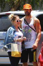 Pregnant HILARY DUFF and Matthew Koma Out Shopping in Studio City 06/18/2018