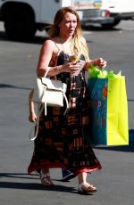 Pregnant HILARY DUFF Arrives at a Birthday Party in Sherman Oaks 06/15/2018