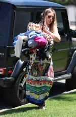 Pregnant HILARY DUFF Arrives at a Cleaners in West Hollywood 06/28/2019