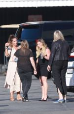 Pregnant HILARY DUFF Arrives at Late Late Show with James Corden in West Hollywood 06/11/2018
