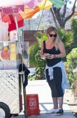Pregnant HILARY DUFF at a Fruit Stand in Los Angeles 06/27/2018