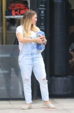 Pregnant HILARY DUFF Leaves Fitbox in Los Angeles 06/15/2018