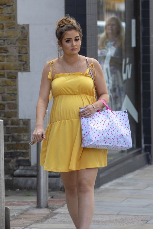 Pregnant JACQUELINE JOSSA Arrives at Her Baby Shower in Bexleyheath 06/02/2018