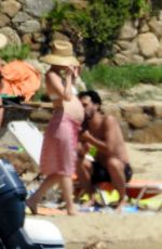 Pregnant KATE HUDSON at a Beach in Mykonos 06/17/2018