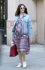Pregnant RACHEL WEISZ Leaves Her Apartment in New York 06/19/2018