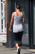 Pregnant ROSIE JONES Out and About in London 06/13/2018
