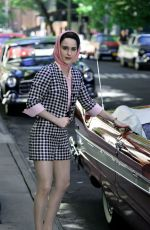 RACHEL BROSNAHAN on the Set of The Marvelous Mrs Maisel Season 2 in New York 06/21/2018