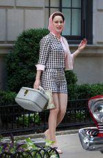 RACHEL BROSNAHAN on the Set of The Marvelous Mrs. Maisel in New York 06/14/2018