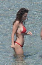 RAFFAELLA FICO in Bikini on the Meach in Mykonos 06/22/2018
