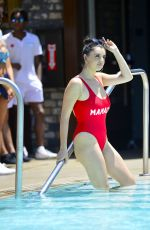 REBECCA BLACK in Swimsuit at Dream Hotel Pool Party in Los Angeles 05/27/218