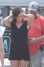 REBECCA KUFRIN on the Set of Extra in Los Angeles 06/04/2018
