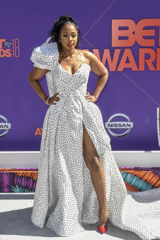 REMY MA at BET Awards in Los Angeles 06/24/2018