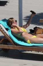 RHIAN SUDGEN in Bikini at a Pool in Ibiza 06/17/2018
