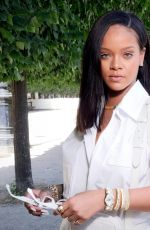 RIHANNA at Louis Vuitton Show at Paris Fashion Week 06/21/2018