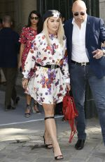 RITA ORA Arrives at Dior Homme Spring/Summer Fashion Show in Paris 06/23/2018