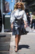 RITA ORA in a Silver Dress Out in New York 06/16/2018