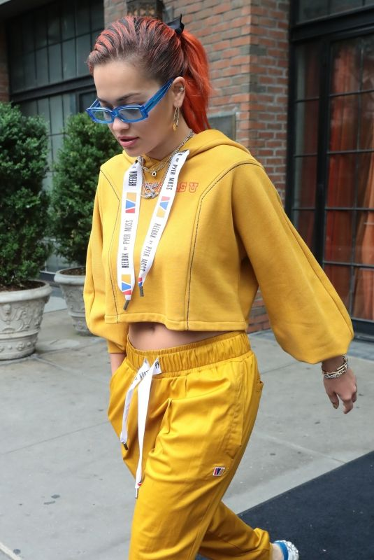 RITA ORA Leaves Bowery Hotel in New York 06/13/2018