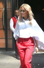 RITA ORA Leaves Bowery Hotel in New York 06/19/2018
