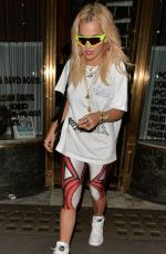 RITA ORA Leaves Mr Chow in London 06/22/2018