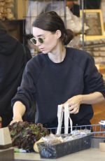 ROONEY MARA Shopping at Erewhon Market in Los Angeles 06/17/2018