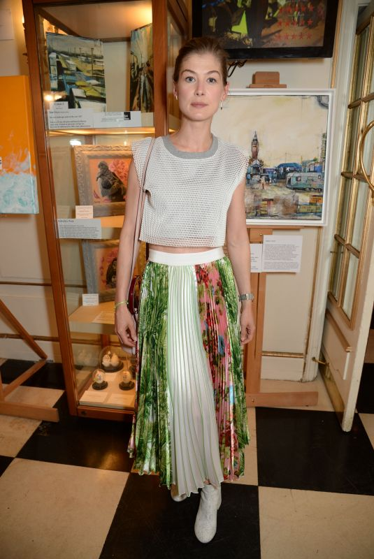 ROSAMUND PIKE at The Jungle Special Performance in London 06/27/2018