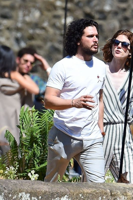 ROSE LESLIE and Kit Harington Out in Aberdeen 06/24/2018