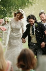 ROSE LESLIE at Her Wedding with Kit Harington in Scotland 06/23/2018