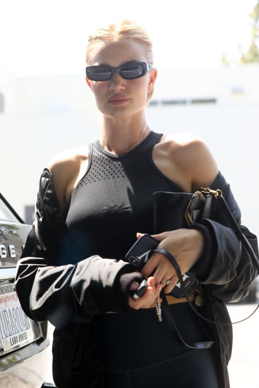 ROSIE HUNTINGTON-WHITELEY at a Gym in West Hollywood 06/21/2018