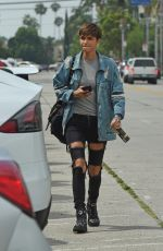 RUBY ROSE Hading to a Movie Studio in Los Angeles 06/17/2018