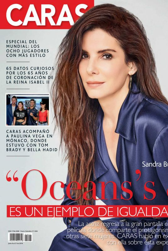 SANDRA BULLOCK in Caras Magazine, Colombia June 2018