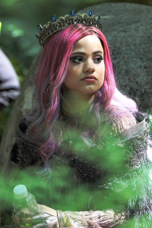 SARAH JEFFERY on the Set of Descendants 3 in Vancouver 06/27/2018