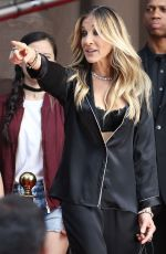 SARAH JESSICA PARKER on the Set of a Commercial for Intimissimi in New York 06/05/2018