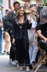 SARAH JESSICA PARKER on the Set of a Commercial in New York 06/16/2018