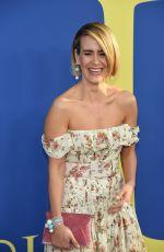 SARAH PAULSON at CFDA Fashion Awards in New York 06/05/2018