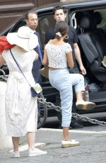 SELENA GOMEZ Out and About in Rome 06/19/2018