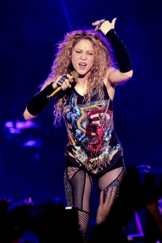 SHAKIRA Performs at Her El Dorado Tour in Milano 06/21/2018