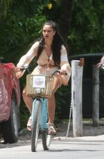 SHANINA SHAIK Out Riding a Bike in Tulum 06/13/2018