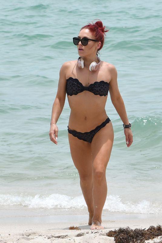 SHARNA BURGESS in Bikini at a Beach in Miami 06/01/2018