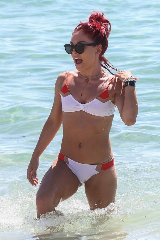 SHARNA BURGESS in Bikini on the Beach in Miami 06/02/2018