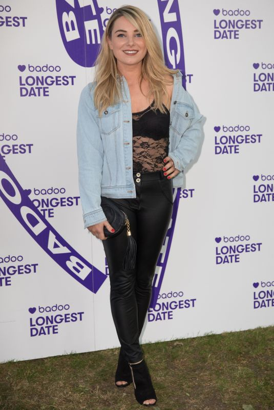 SIAN WELBY at Badoo's Longest Date Celebrating Real Life Dates on Longest Day of the Year in London 06/21/2018