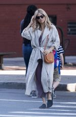SIENNA MILLER Out in New York 06/05/2018