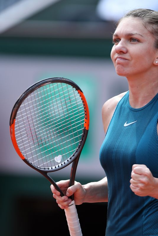 SIMONA HALEP at 2018 French Open Tennis Tournament 06/04/2018