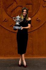 SIMONA HALEP - Roland Garros 2018 Trophy Photocall